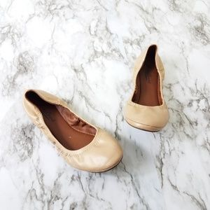 Lucky Brand Ballet flats beige leather size 8